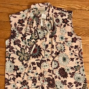 Loft Outlet Floral Sleeveless Blouse - NWT